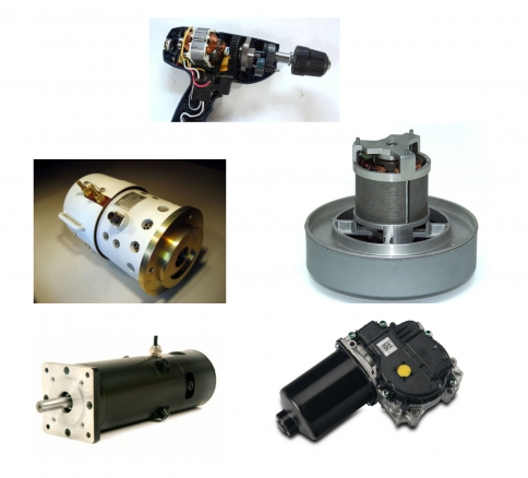 applications for brushed dc motors
