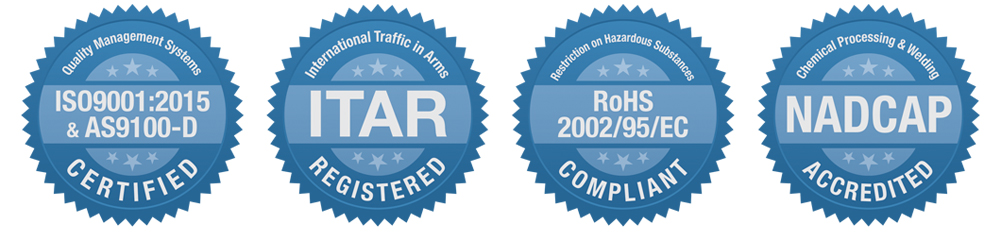 Certifications AS9100 ITAR RoHS NADCAP
