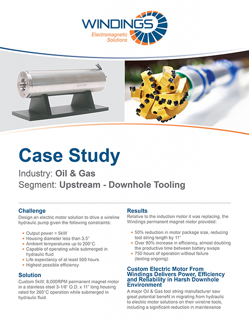 Oil & Gas Case Study - Upstream - Downhole Tooling