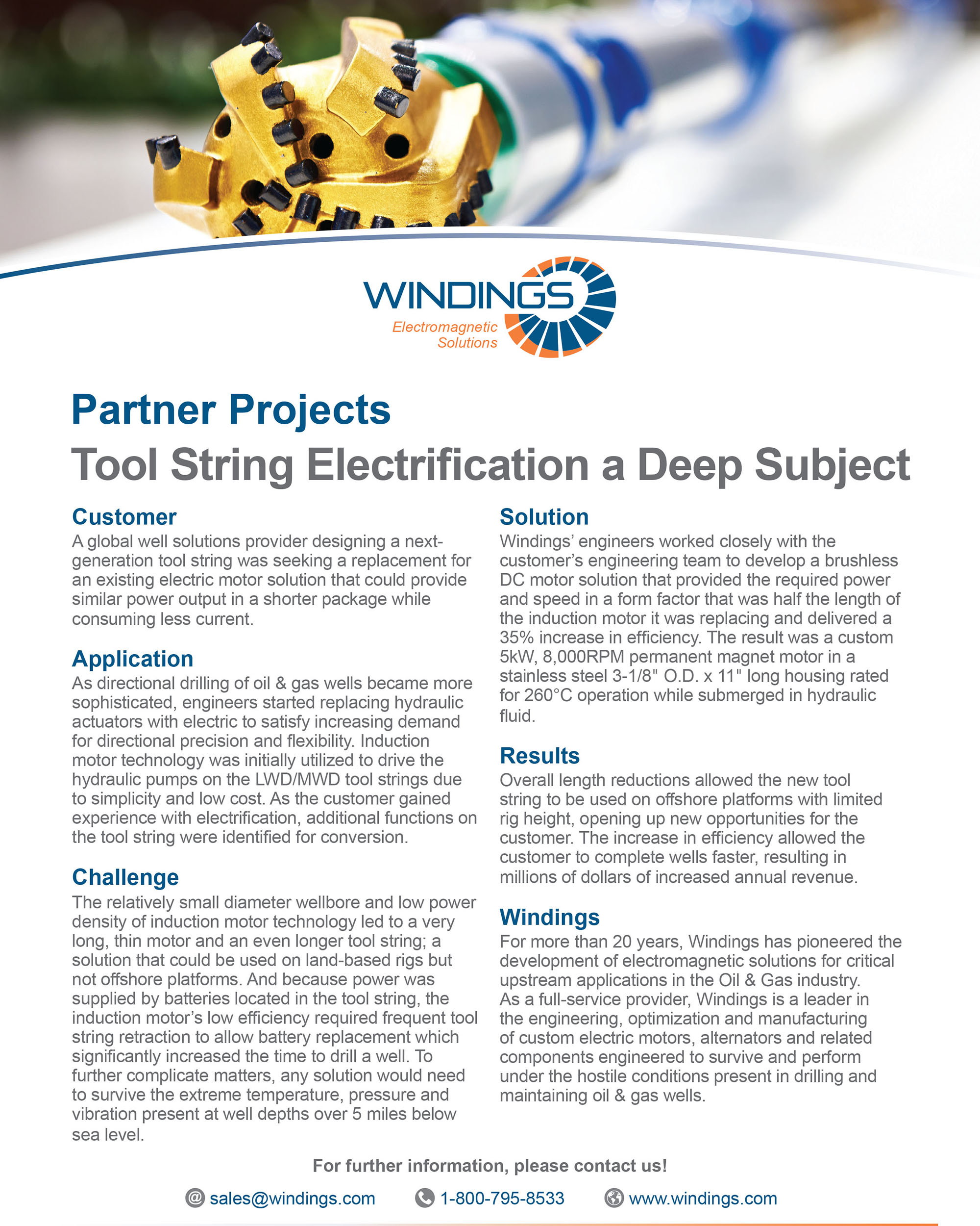 Partner Project - Tool String Electrification
