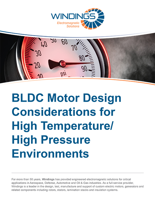 Motor Design High Temperature High Pressure